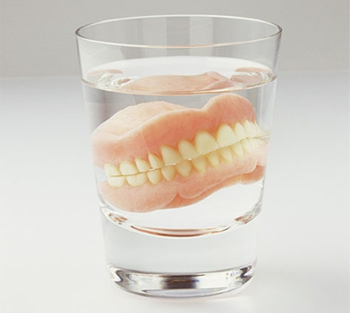 Complete Dentures Stored In Water